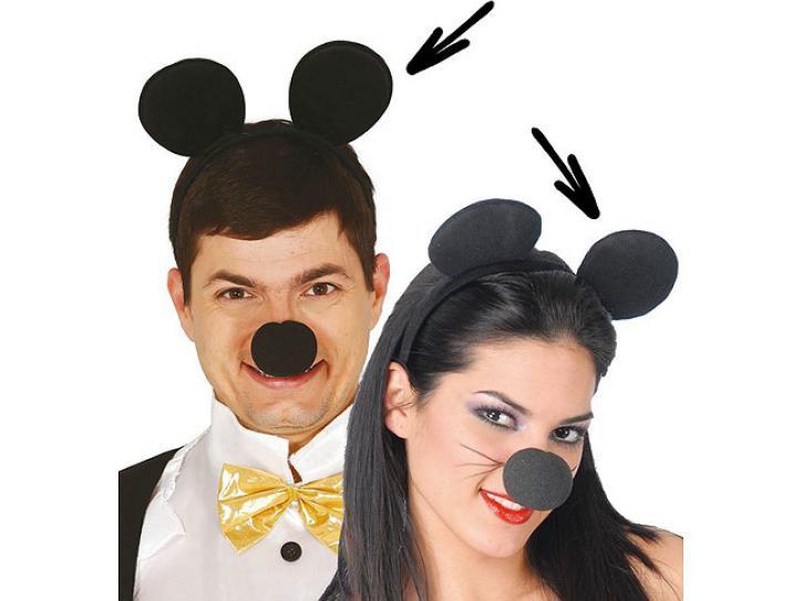 Haarreif Maus mit Stoffohren