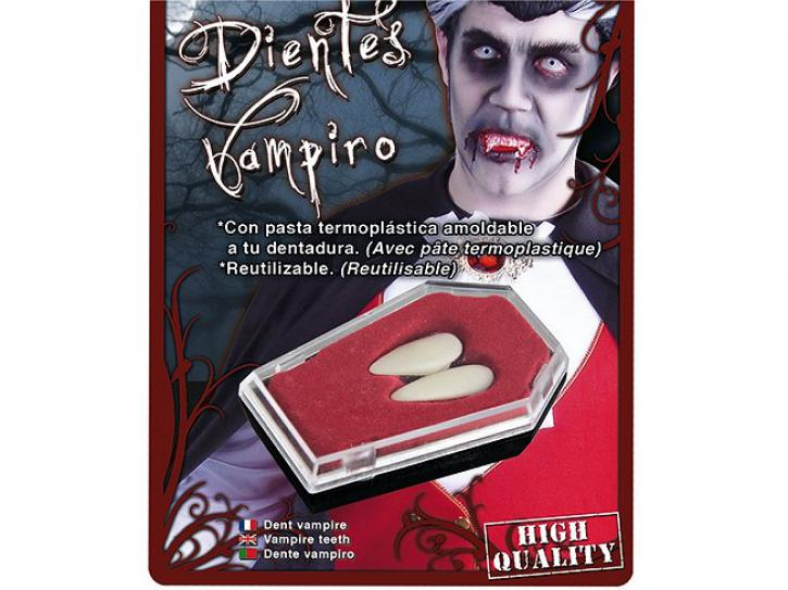 Zähne Vampir einzeln groß