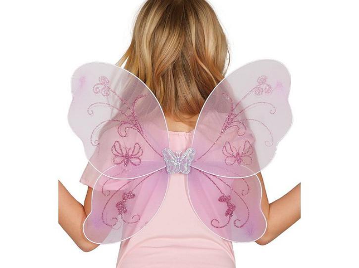 Flügel Fee Glitzer rosa
