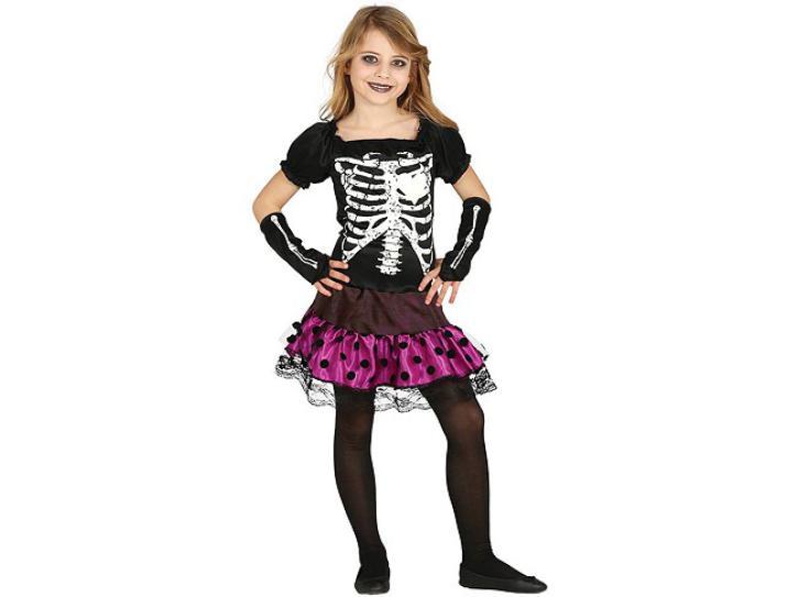 Skelett Kleid für Kinder 7-9 Jahre