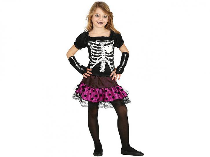 Skelett Kleid für Kinder 10-12 Jahre