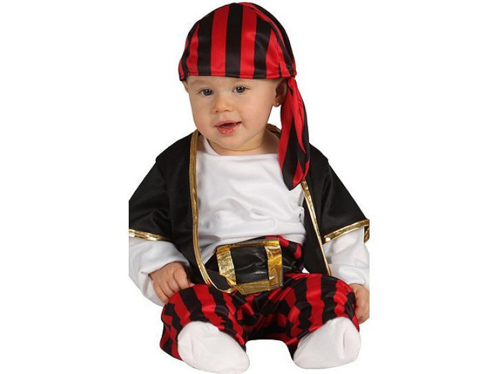 Kostüm Pirat für Babys von 6-12 Monate