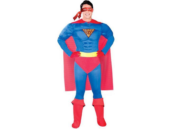Kostüm Superheld Gr. XL