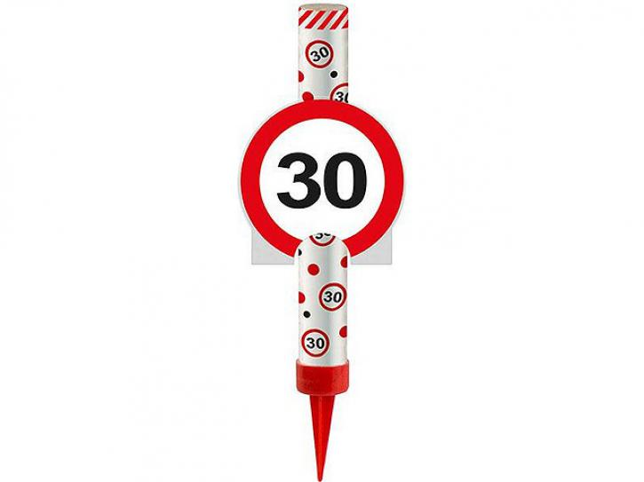 Eisfontäne Verkehrschild 30