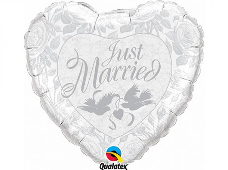 Folienballon Just Married 45 cm