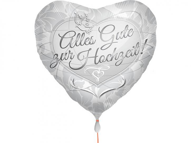 Folienballon Alles Gute zur Hochzeit 45cm