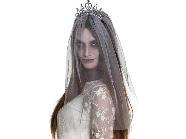 Krone mit Schleier Zombie Princess