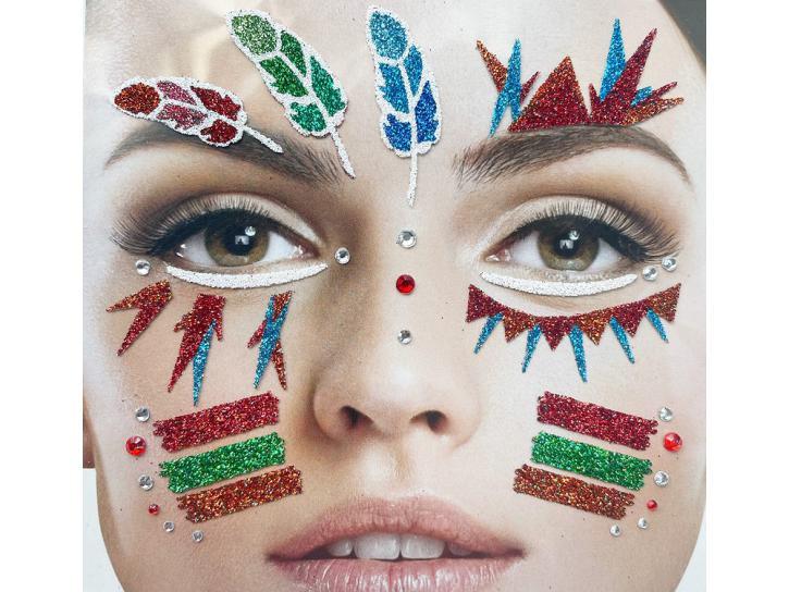 Gesichts-Tattoo Indianer