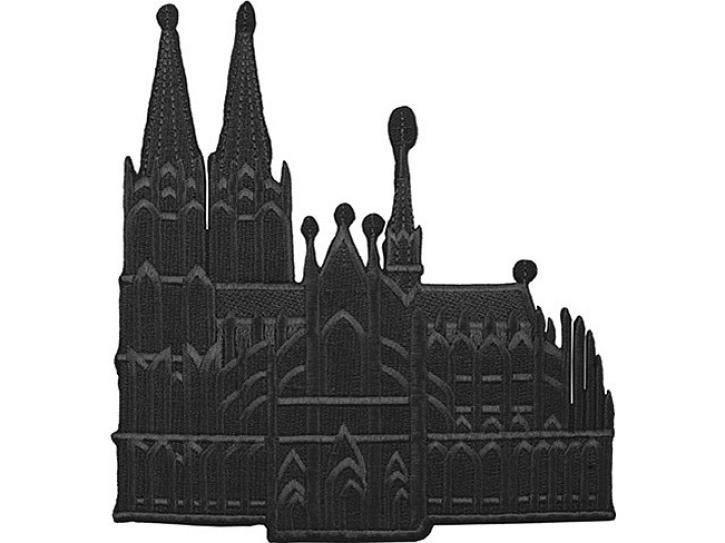 Bügelbild Dom groß schwarz