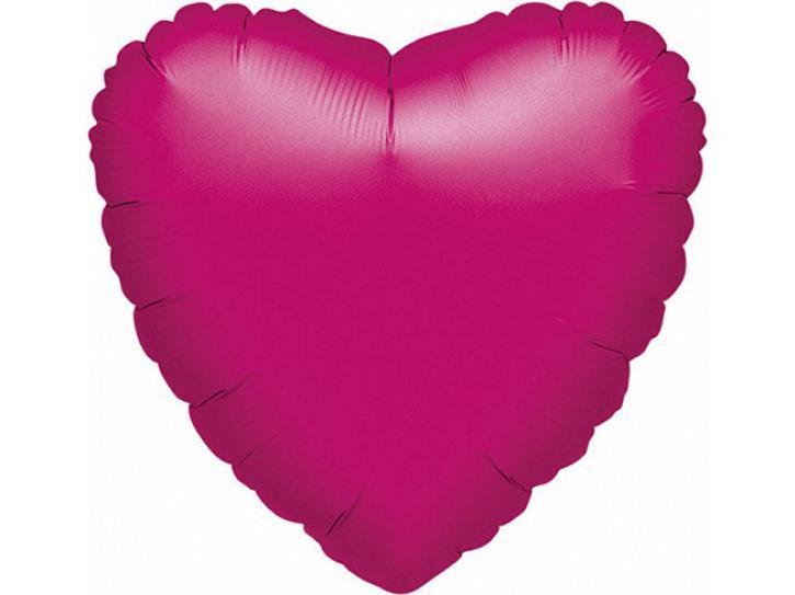 Folienballon Herz fuchsia 45cm