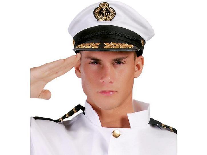 Hut Kapitänsmütze mit Goldstickerei