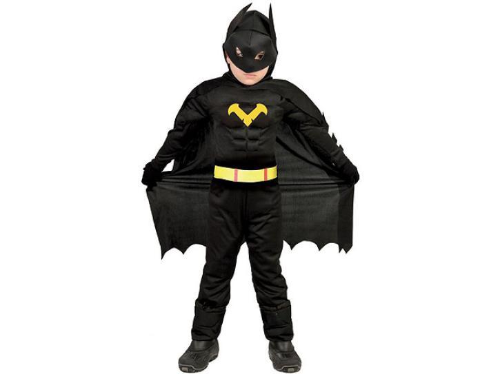 Kostüm Schwarzer Held 5-6 Jahre