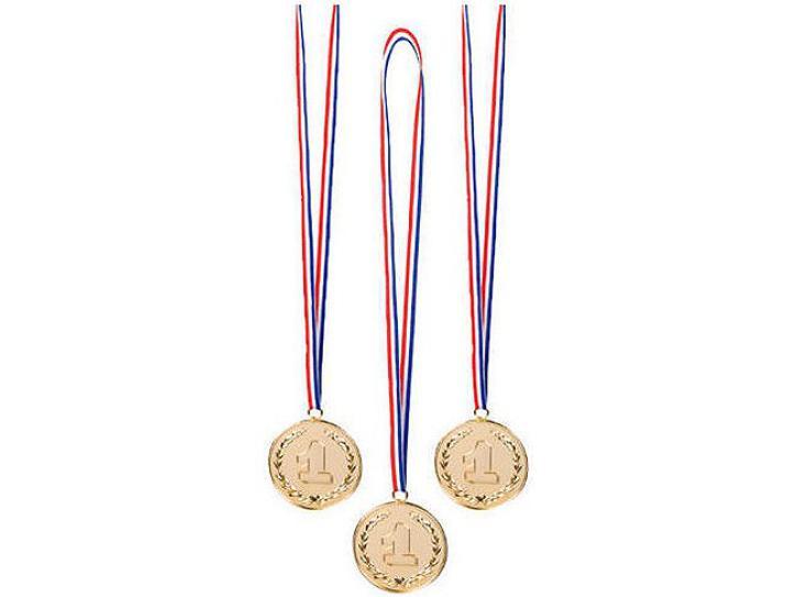 Medaillen gold 1 Platz 3 Stk.