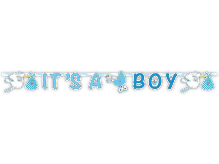 Girlande its a Boy blau 1,7m