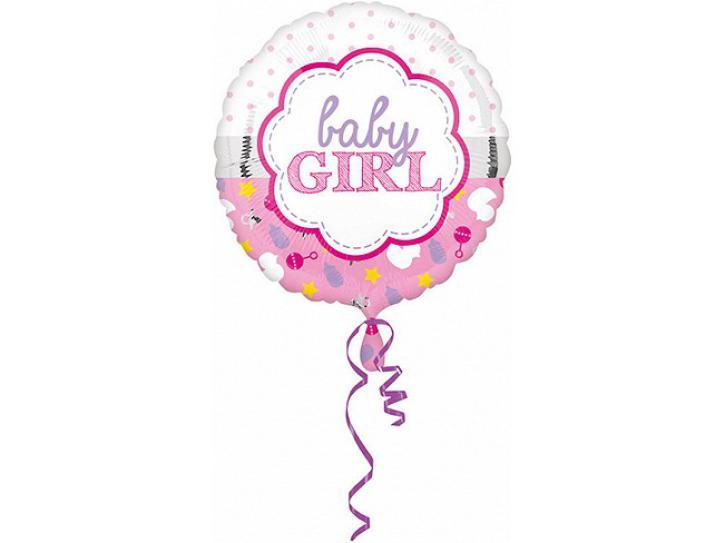 Folienballon Baby Girl 45 cm