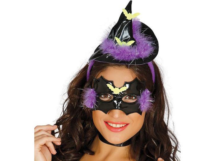 Haarreif Hexe mit Maske
