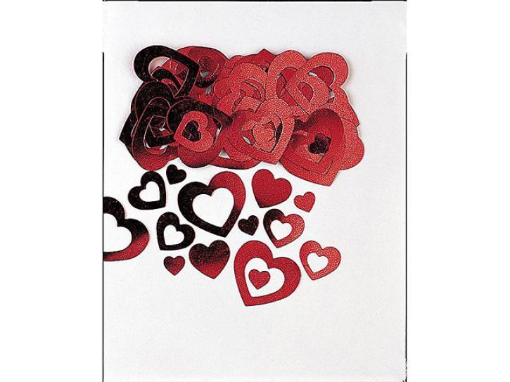 Konfetti ausgestanzte Herzen rot 14g