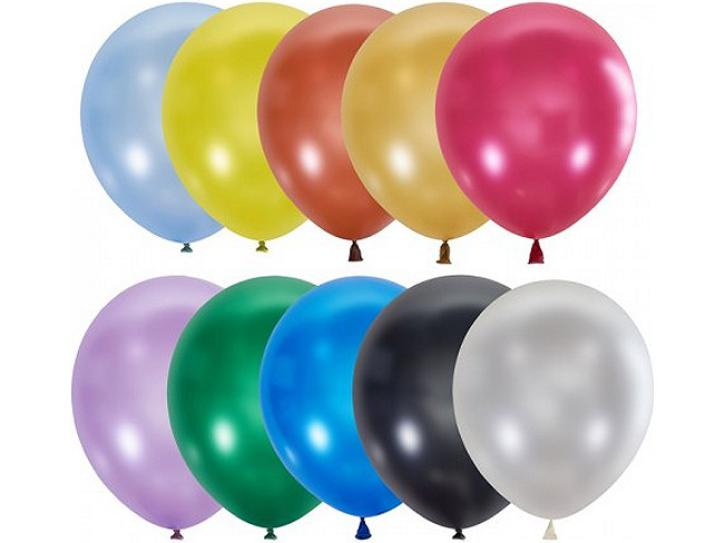 Luftballon metallic bunt 100 Stk.