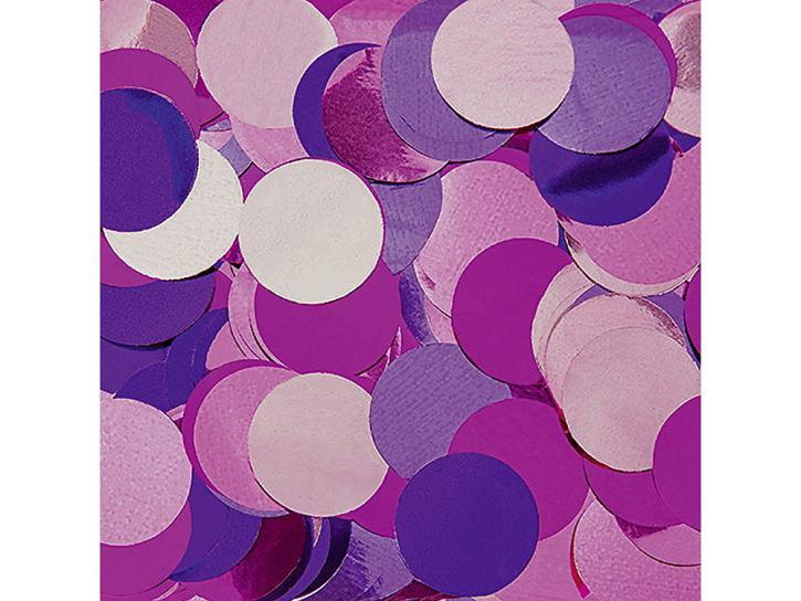 Konfetti Kreise metallic pink/lila/rosa 15g