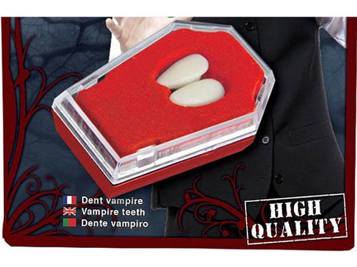 Zähne Vampir einzeln mit Kleber