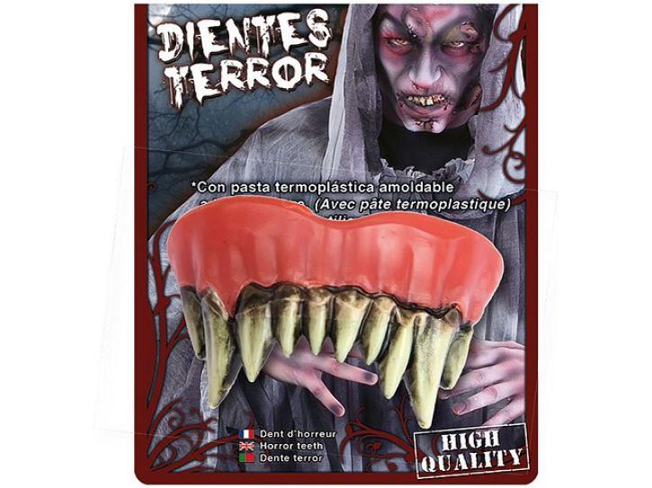 Gebiss Monster spitze Zähne