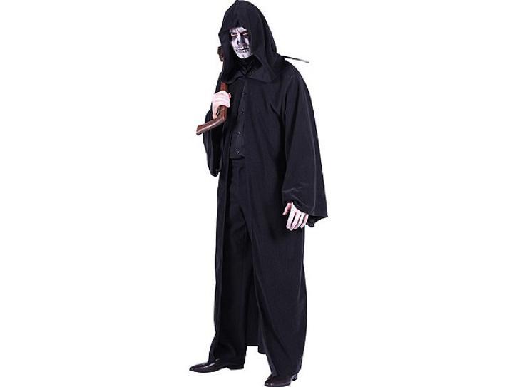 Kutte Sensemann schwarz mit Kapuze 120 cm