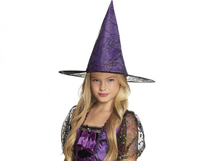Hexenhut Kinder violett