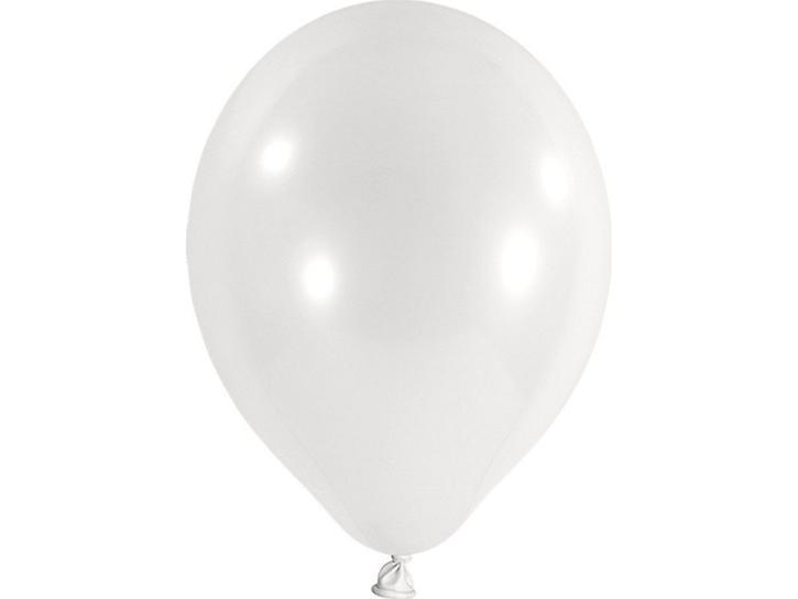 Luftballon metallic weiß 20 Stk.