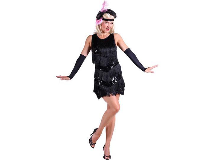 Kleid Charleston schwarz Gr. L