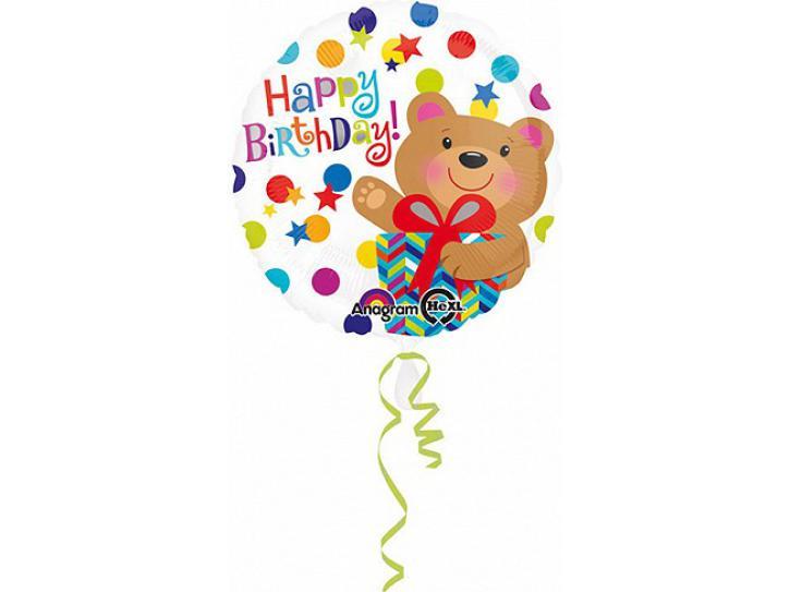 Folienballon Bär mit Geschenk