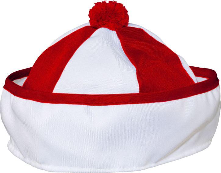 Matrosenmütze rot/weiß KW 60