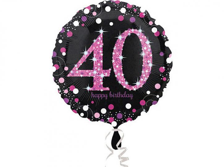 Folienballon 40 pink celebration