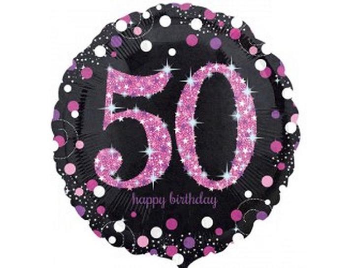 Folienballon 50 pink celebration