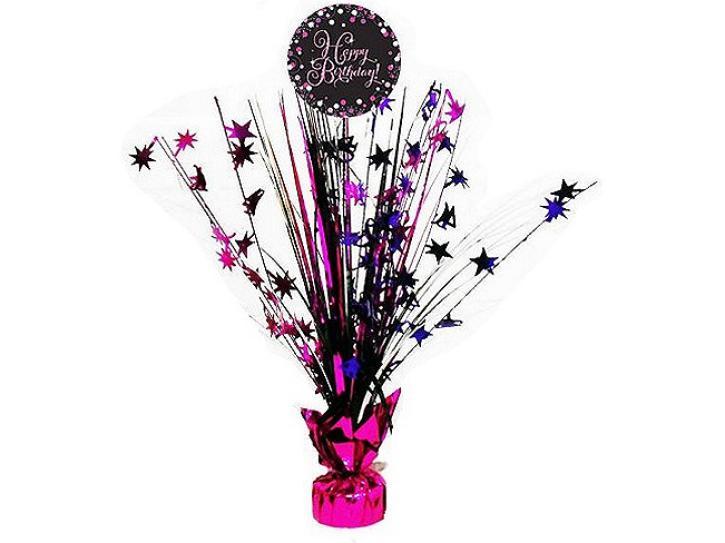 Dekoration Cascade Happy Birthday pink