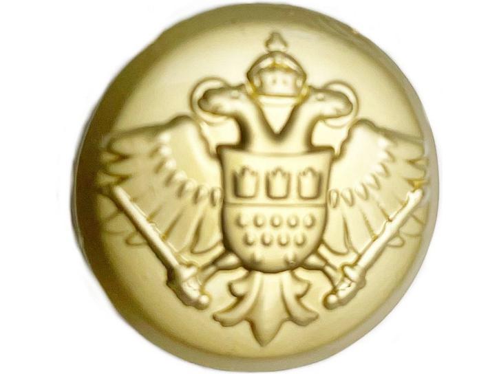 Knopf Adler mit Kölner Wappen matt gold