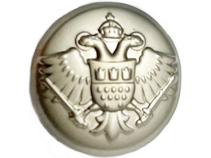 Knopf Adler mit Kölner Wappen matt silber
