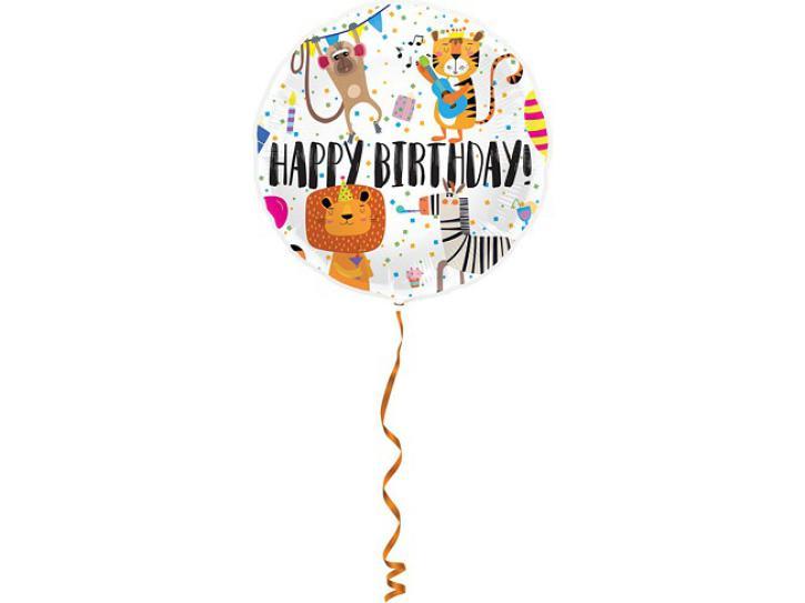 Folienballon Kids Safari 45cm