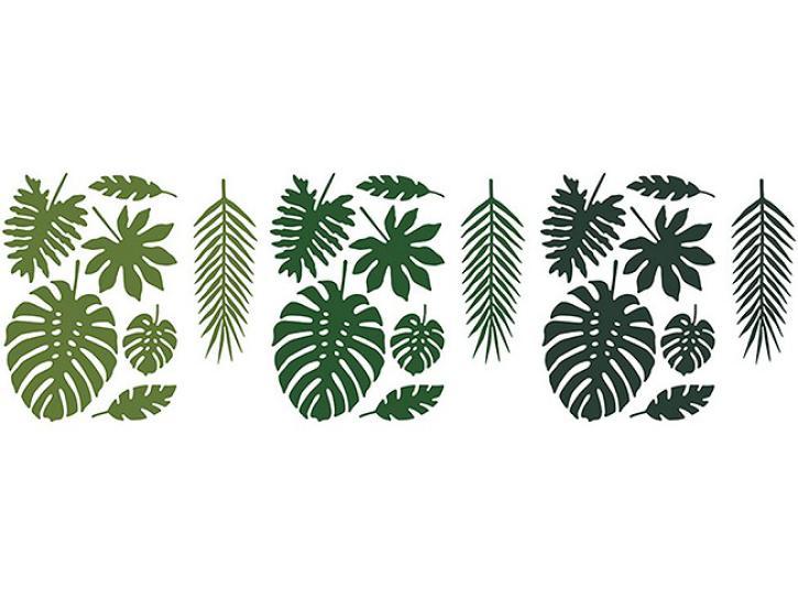 Deko Tropical Blätter Set 21tlg