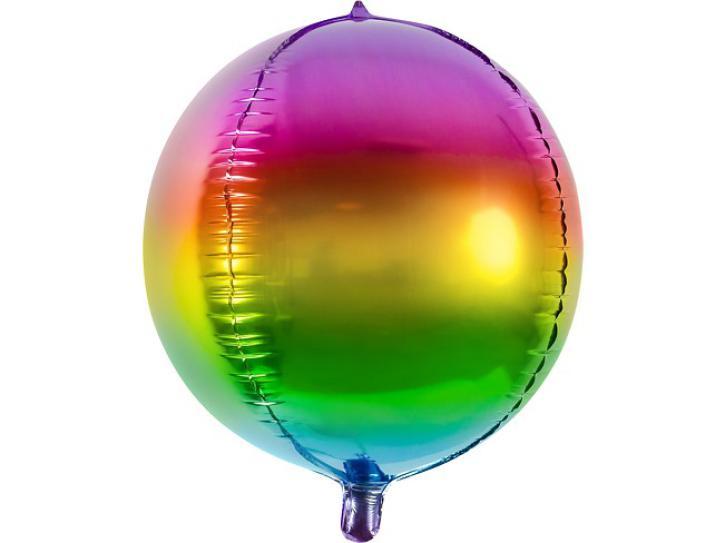 Folienballon Ball Regenbogen 40 cm