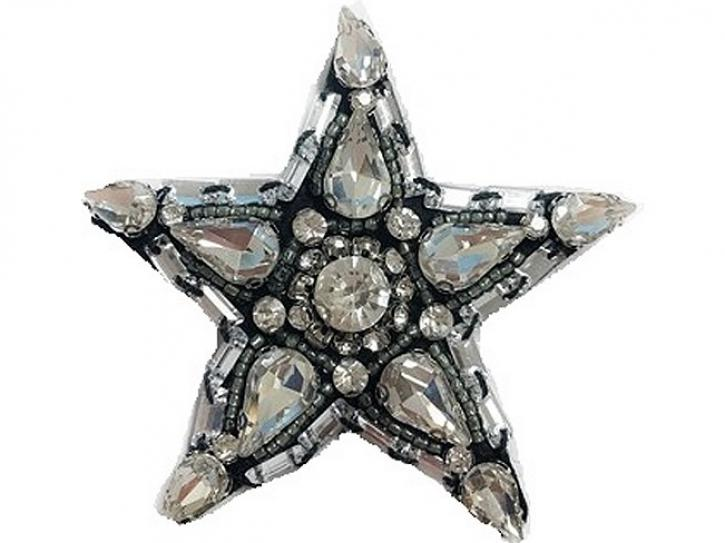 Aufnäher Stern mit Steinen, groß