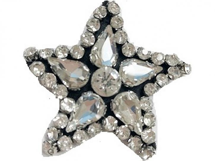 Aufnäher Stern mit Steinen, klein