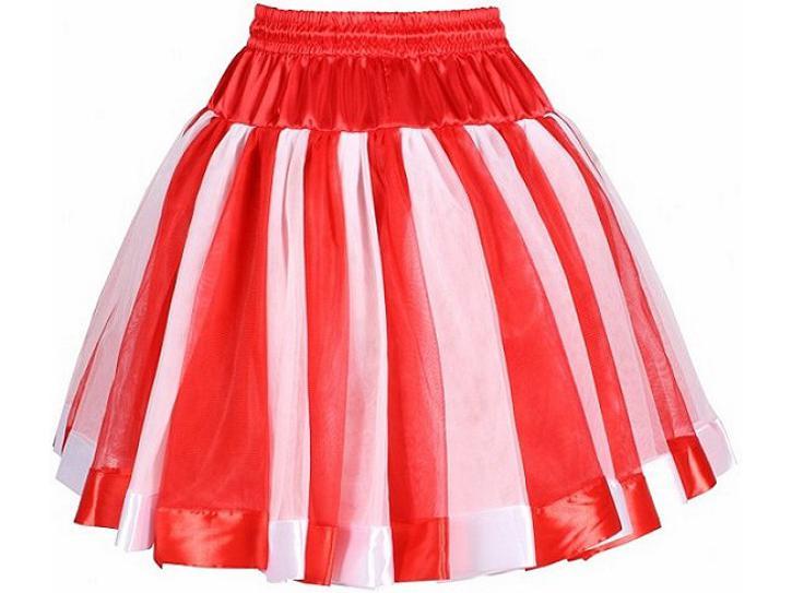 Petticoat rot/weiß