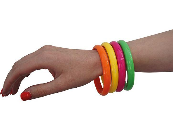 Armband neonfarben 4 Stk.