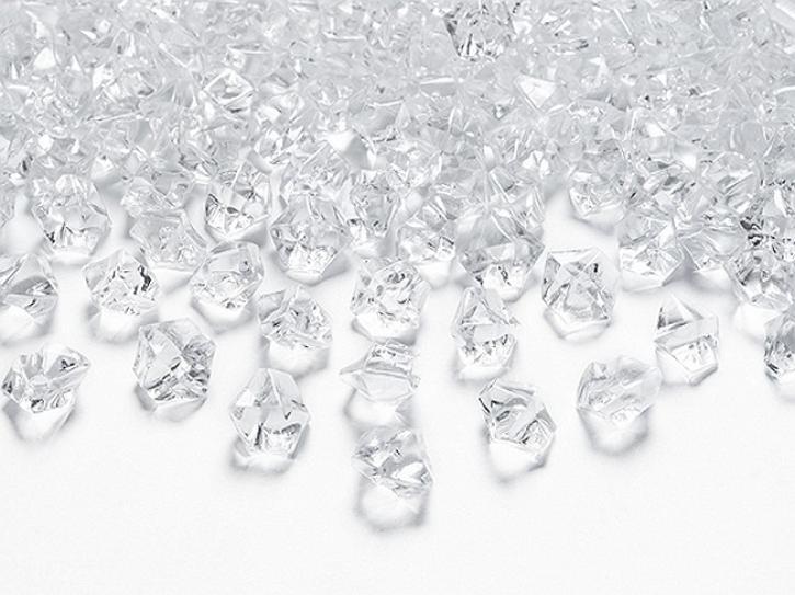 Deko Kristalle clear klein 50 Stk.