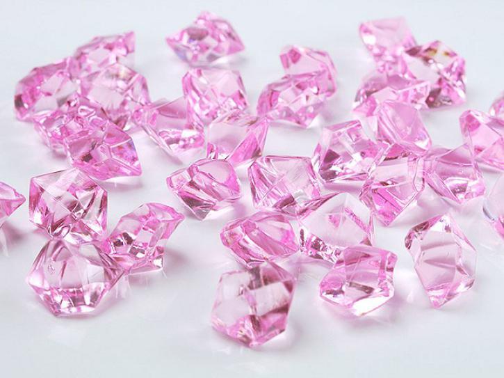 Deko Kristalle rosa 50 Stk.