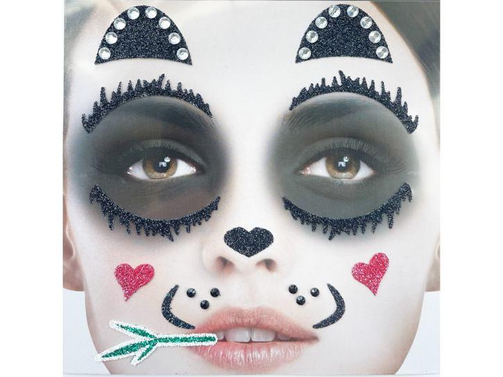 Gesichts-Tattoo Panda