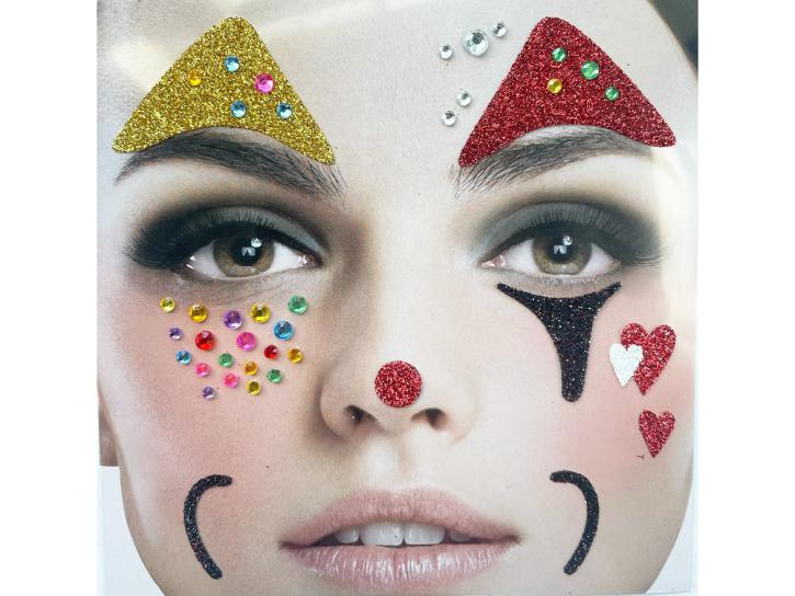 Gesichts-Tattoo Clown