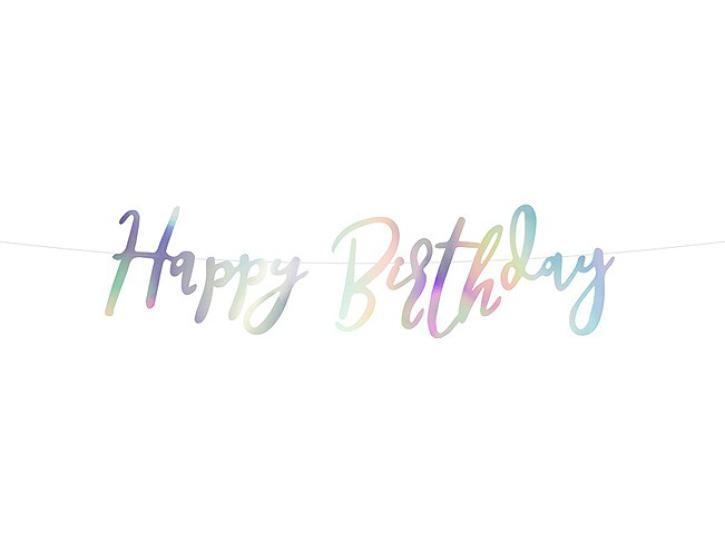 Banner Happy Birthday irisierend
