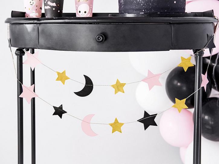 Girlande Sterne und Mond 1,90m