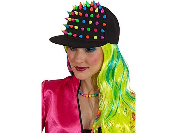 Basecap Spike schwarz/neon